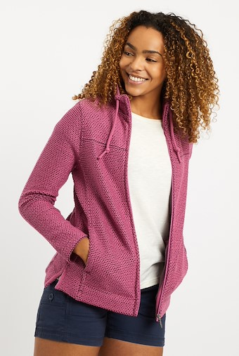 Lolly Full Zip Classic Macaroni Jacket Magenta