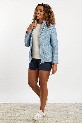 Lolly Full Zip Classic Macaroni Jacket Pale Denim