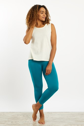 Blondie Cropped Leggings Harbour Blue