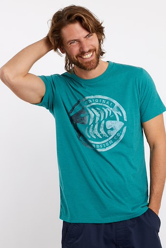 Summer Surf Graphic T-Shirt Deep Teal