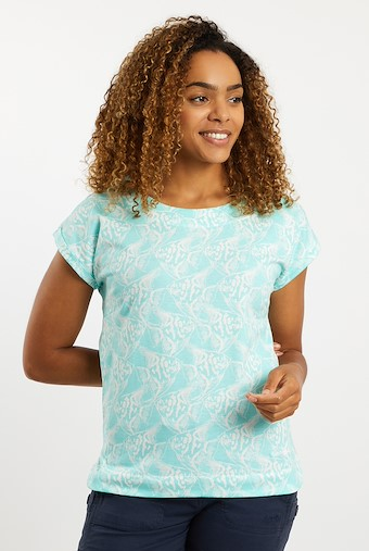 Paw Paw Patterned Jersey T-Shirt Spearmint