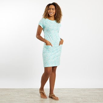 Tallahassee Patterned Jersey Dress Spearmint