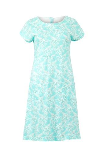 Tallahassee Patterned Jersey Dress Spearmint