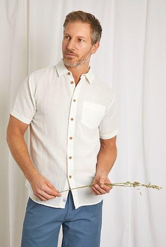Westray Linen Shirt Marshmallow