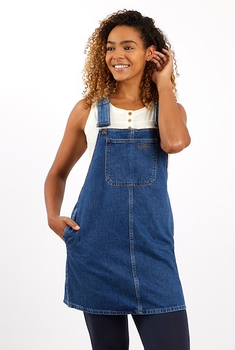 Romie Denim Dungaree Dress Light Denim