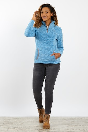 Nancy 1/4 Zip Fleece Storm Blue