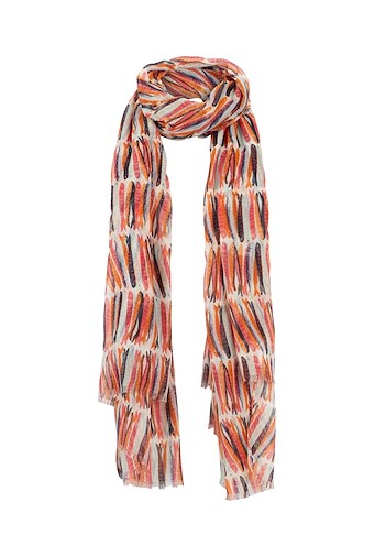 Alverton Printed Scarf Light Cream