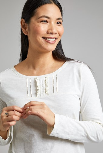 Carolina Organic Cotton Outfitter T-Shirt Light Cream