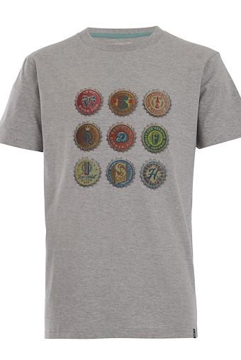 Bottlecaps T-Shirt Grey Marl