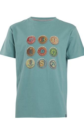 Bottlecaps T-Shirt Washed Teal