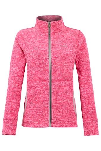 Adele Full Zip Melange Fleece Dark Pink