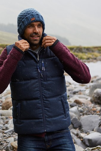 Eddleston Puffa Gilet Ensign Blue