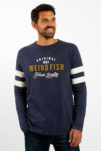 Willand Applique Long Sleeve T-Shirt Navy