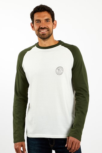 Hennock Long Sleeve Raglan T-Shirt Dark Olive