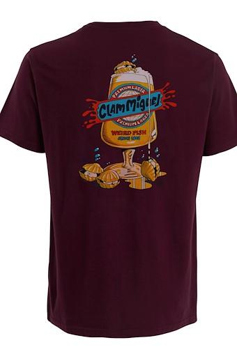 Clam Miguel Artist T-Shirt Plum