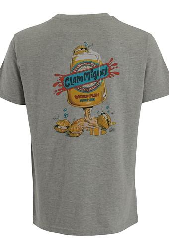 Clam Miguel Artist T-Shirt Grey Marl