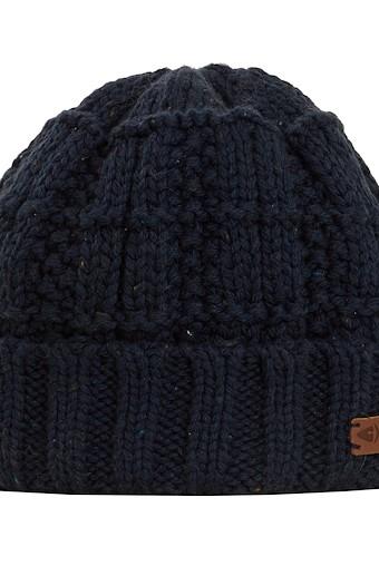 Scotia Knit Beanie Hat Navy