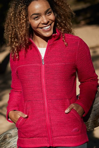 Sontee Full Zip Eco Macaroni Dark Pink