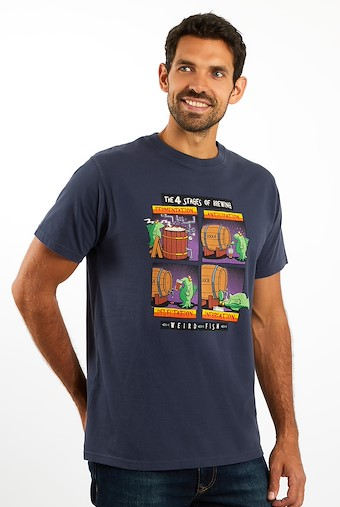 Brewing Stages Artist T-Shirts Navy