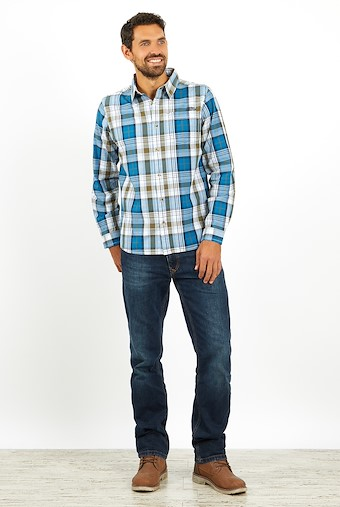 Sperrin Long Sleeve Check Shirt Storm Blue