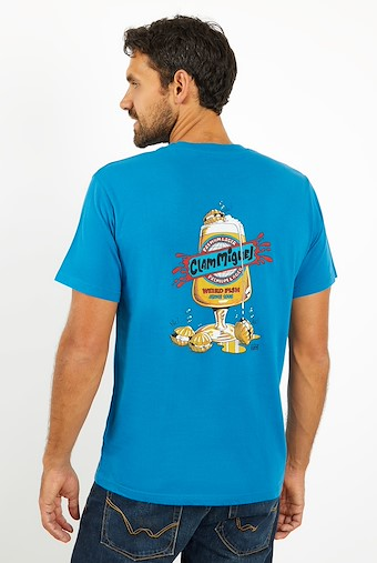 Clam Miguel Artist T-Shirt Storm Blue