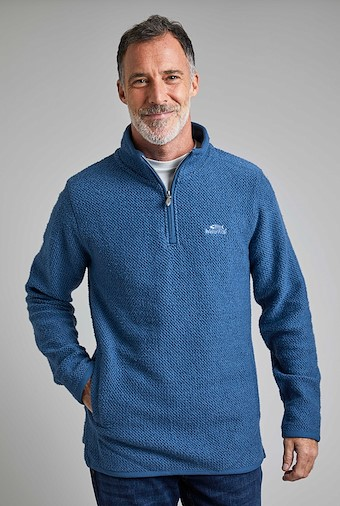 Stern 1/4 Zip Eco Macaroni Ensign Blue