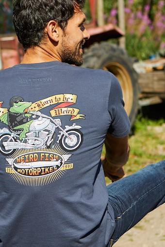 Motorpikes Artist T-Shirt Navy