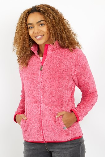 Hulla Full Zip Fluffy Fleece Dark Pink
