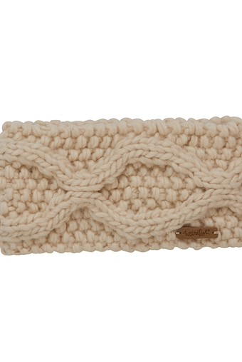 Ellor Chunky Cable Knit Headband Chalk