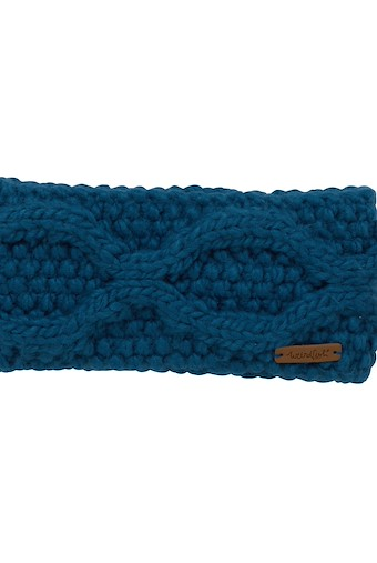 Ellor Chunky Cable Knit Headband Storm Blue