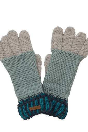Marta Striped Knit Gloves Navy
