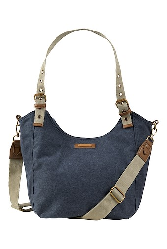 Burford Canvas Shoulder Bag Navy