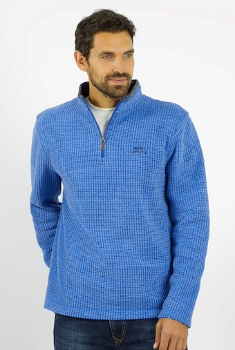 Newark 1/4 Zip Grid Fleece True Blue