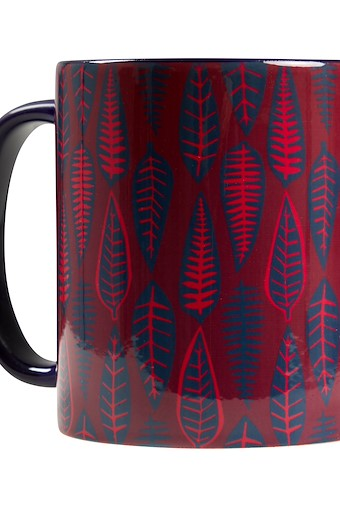 Leaves Mug Rich Red