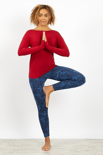 Iris Bamboo Long Sleeve T-Shirt Rich Red