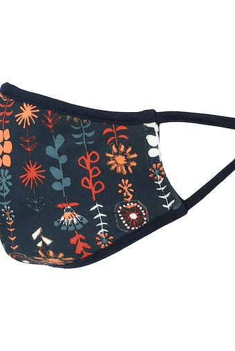 Cait Printed Bamboo Face Covering Ink