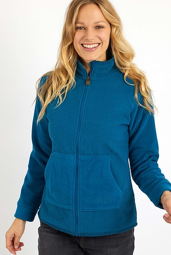 Pippy Full Zip Diamond Microfleece Storm Blue