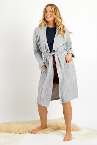 Clare Dressing Gown Pearl Grey