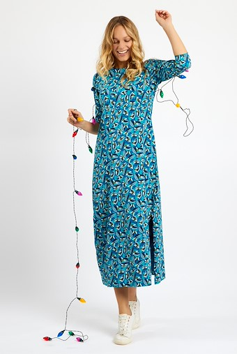 Ramona Jersey Maxi Dress Storm Blue