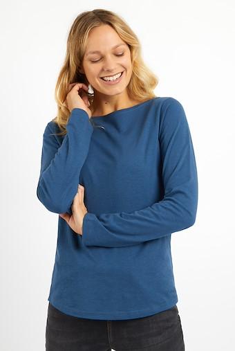 Mendel Boat Neck T-Shirt Ensign Blue