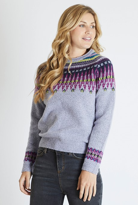Kara Fair Isle Jumper Pale Iris