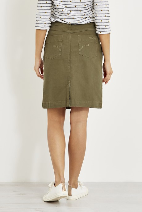 Irina Stretch Twill skirt Dusky Green