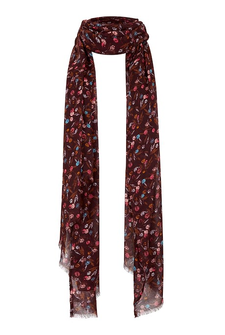 Alverton Patterned Scarf Mulled Wine