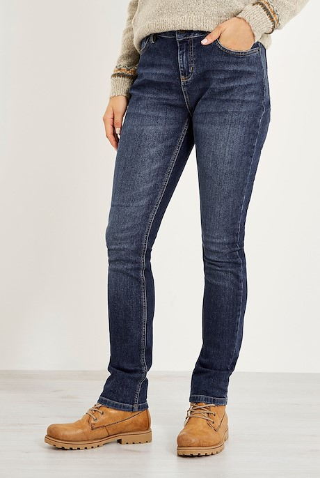 Vixen Straight Leg Denim Jean Dark Denim