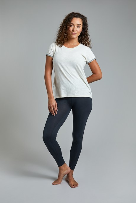Louisa Stretch Leggings Washed Black
