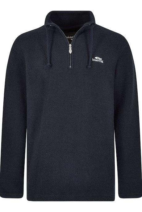 Cruiser 1/4 Zip Classic Macaroni Sweatshirt Black Iris