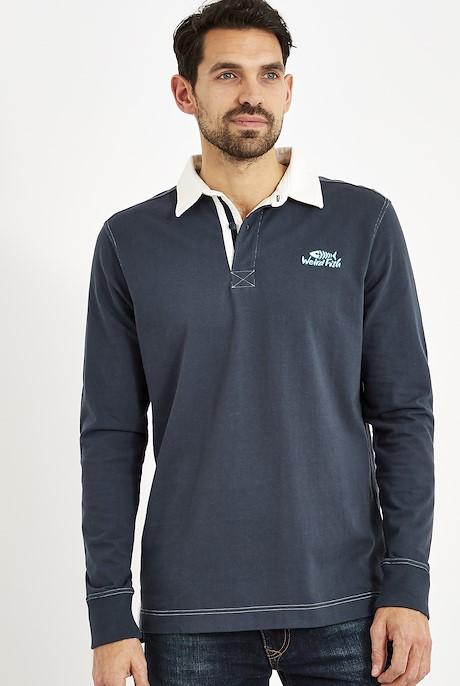Larne Long Sleeve Rugby Shirt Dark Navy