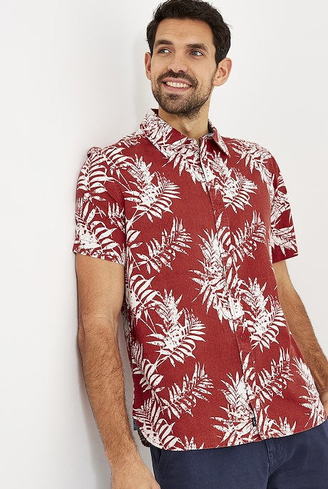 Mayo Hawaiian Short Sleeve Shirt Paprika