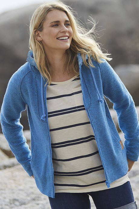 Tansy Classic Macaroni Hoodie Cool Blue