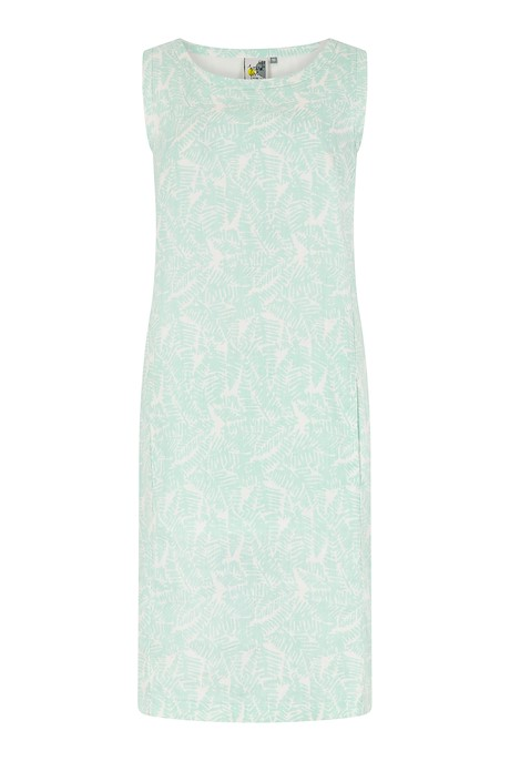 Elliana Printed Linen Dress Honeydew